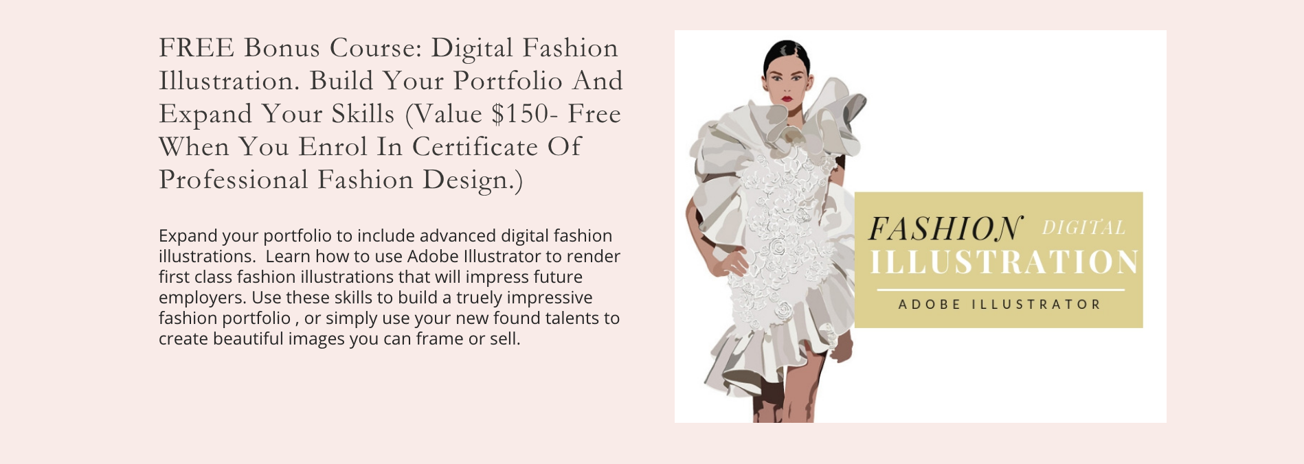 Digital Fashion Illustration Free Course included in the Fashion Design Course Online