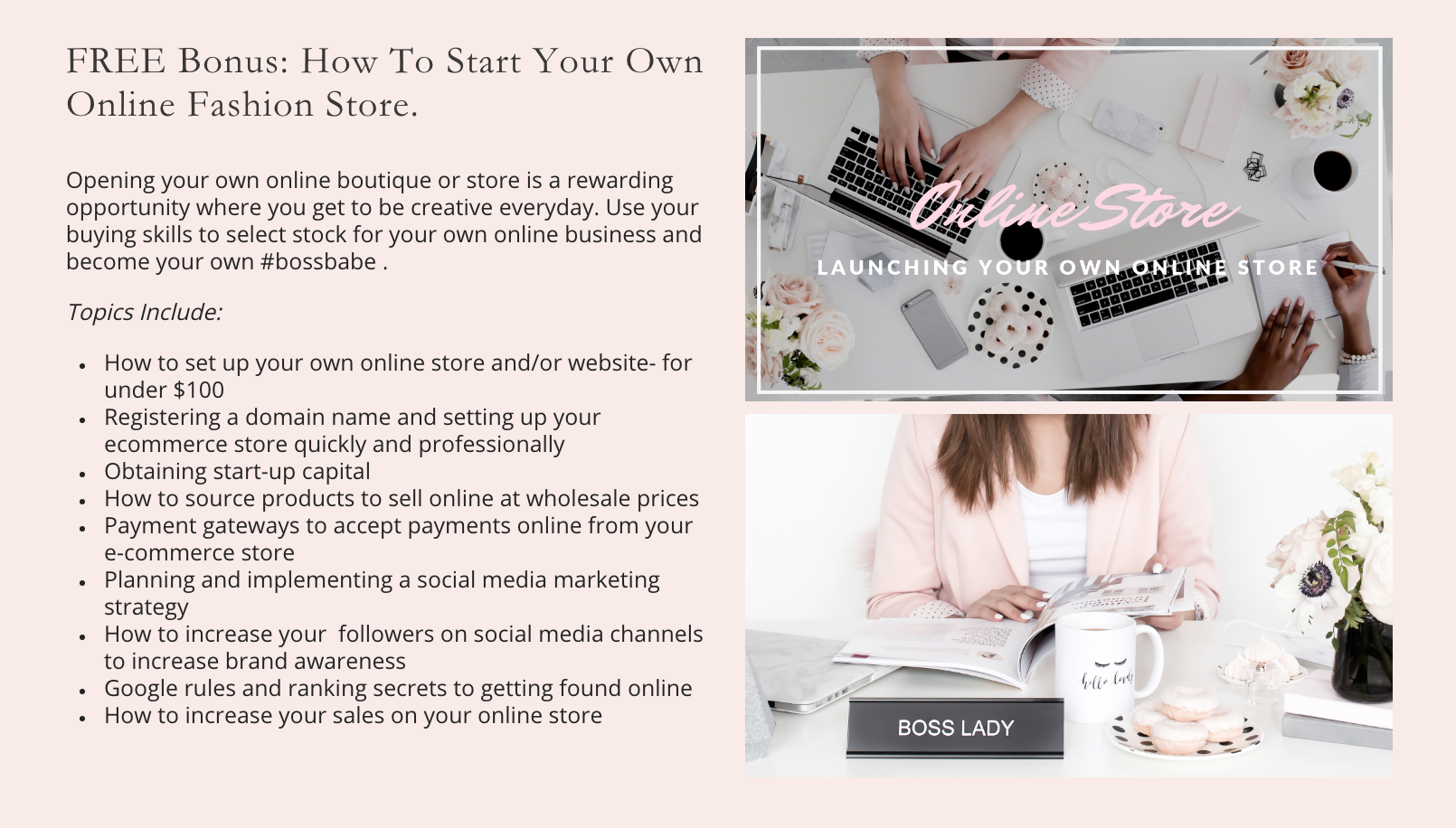 Fashion Buying Online Course Topics