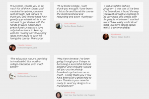 Fashion Design Student Testimonials La Mode College