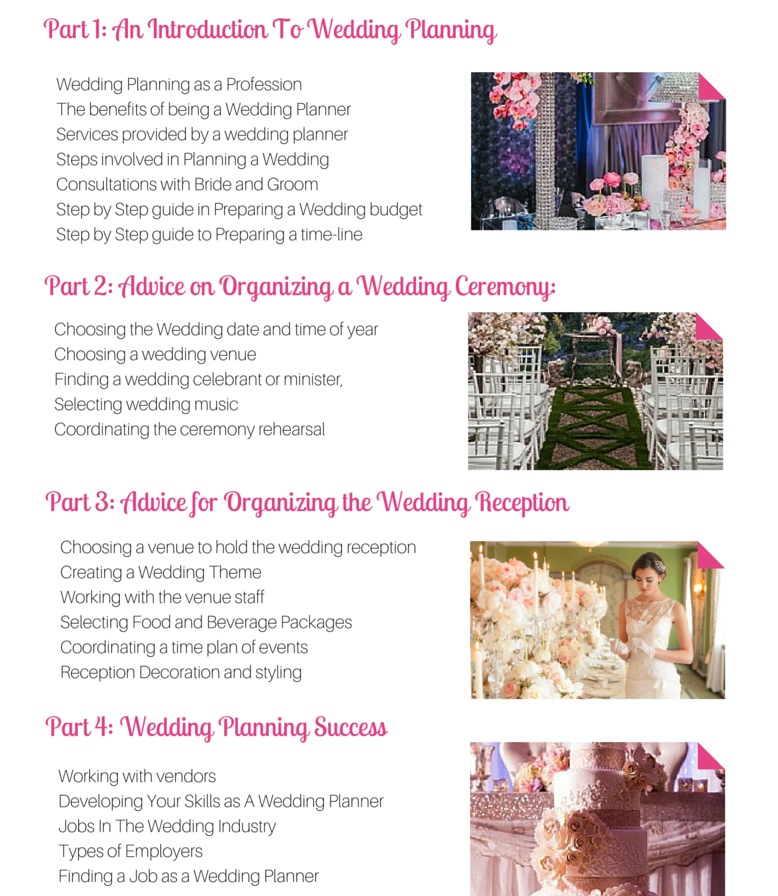 Wedding Planners Course Module 1