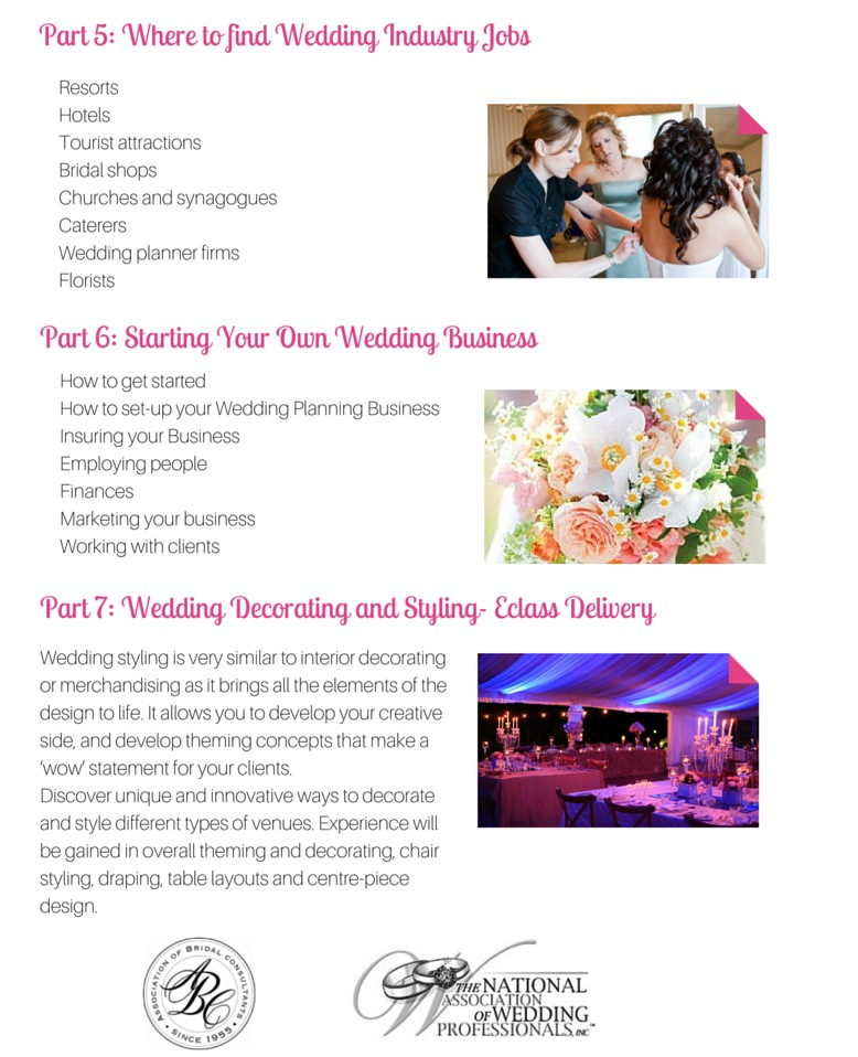 Wedding Planners Course Module 2