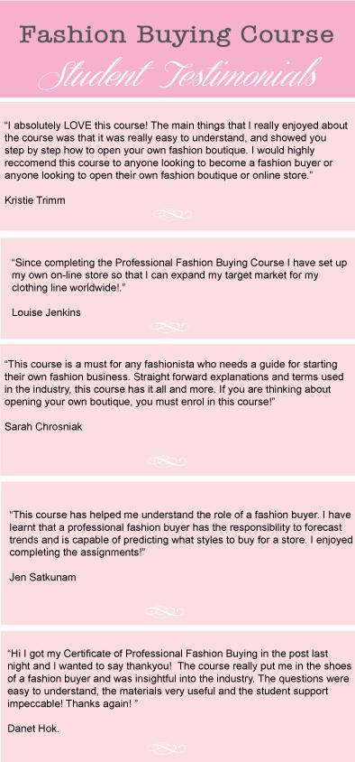 Fashion Buyer Course Melbourne – La Mode College