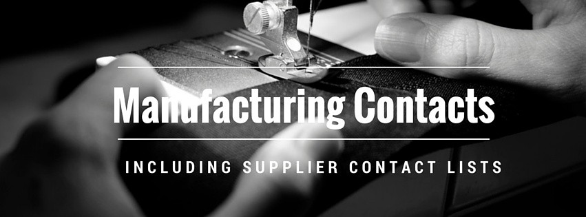 manufacturing contact lists fashion designer