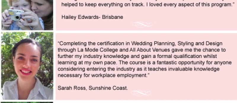 Wedding planning courses brisbane